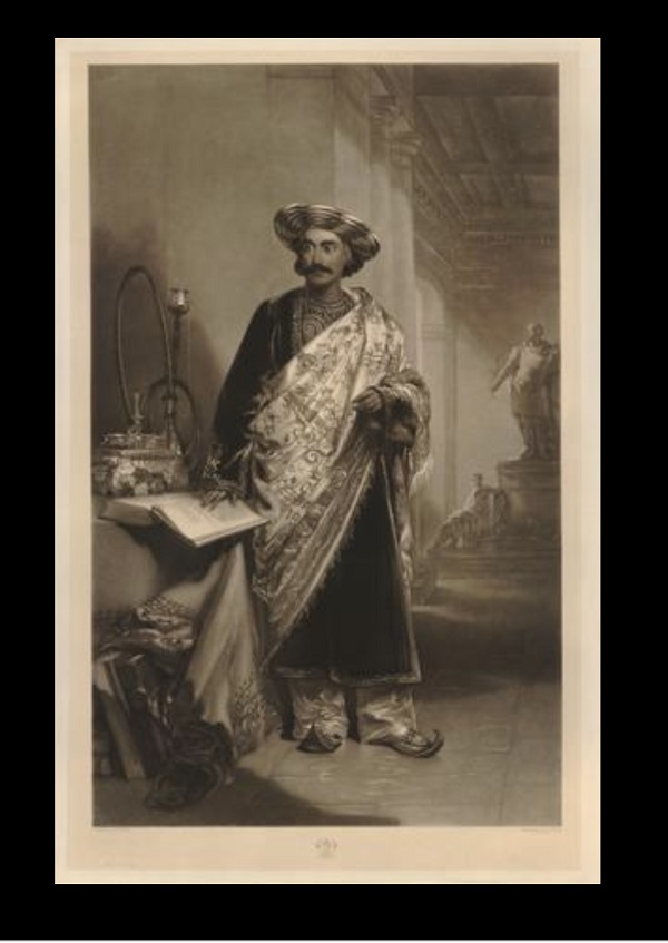 'Prince' Dwarkanath Tagore in Shawl, The British Museum, UK,18th century