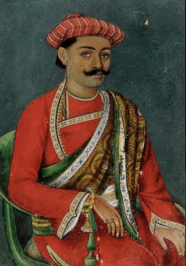 Portrait of Young Indian man in Shawl, Lucknow, India, 19th century